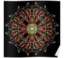 Mandala - 0013 - The Raven and the Sea 16 Mirror Poster