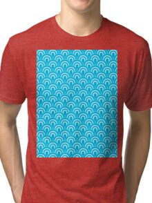 Fabric Texture Retro Style Tri-blend T-Shirt