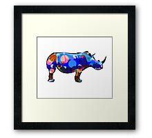 Abstract Rhino Framed Print