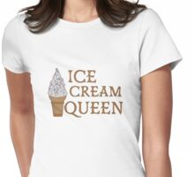 Ice Cream Queen Womens Fitted T-Shirt