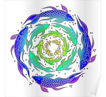 Colorful Rainbow Fish Flow  Poster