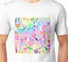 Psychedelic 70s Groovy Collage Pattern Unisex T-Shirt