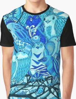 Blue Birds Graphic T-Shirt