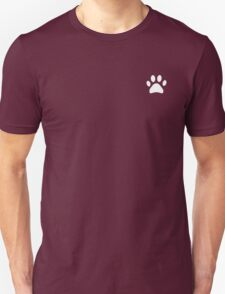 Paw print in black Unisex T-Shirt