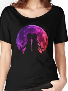 Asuna Kirito Moon Anime Manga Shirt Women's Relaxed Fit T-Shirt