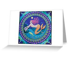 The Midnight Mermaid Greeting Card