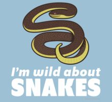 I'm Wild About Snakes Kids Tee