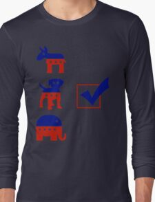Voting for the Dog in the Race Long Sleeve T-Shirt