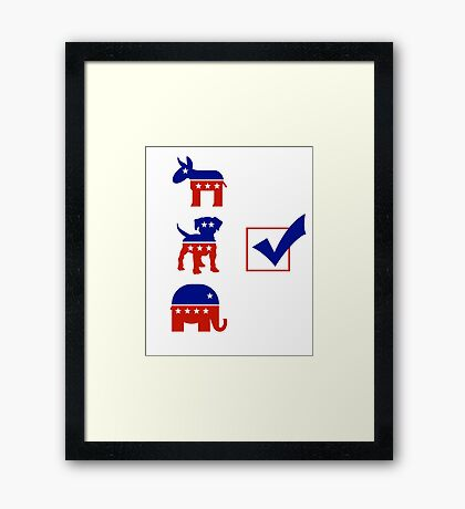 Voting for the Dog in the Race Framed Print