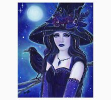 Raven Halloween witch fantasy art by Renee L Lavoie Unisex T-Shirt