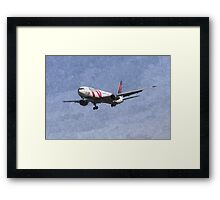 Delta Airlines Boeing 767 Art Framed Print