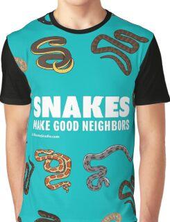Snakes Make Good Neighbors Graphic T-Shirt