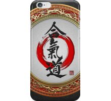 Japanese calligraphy - Aikido iPhone Case/Skin