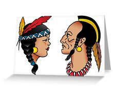 Sailor Tattoo Indians Greeting Card