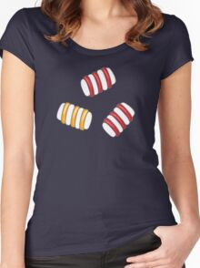 Happy Marshmallows Women's Fitted Scoop T-Shirt