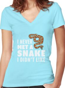 I Never Met A Snake I Didn't Like Women's Fitted V-Neck T-Shirt