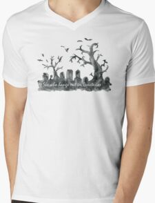 Buffy: She who hangs out in cemeteries  Mens V-Neck T-Shirt