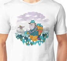 Mountain Guy and Owl Friend T-Shirt