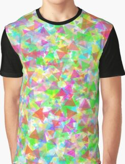 Colorful Rainbow Triangle Graphic T-Shirt