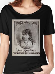 Performing Arts Posters The miniature Patti Louise Marguerite the wonderful child singer actress 0454 Women's Relaxed Fit T-Shirt