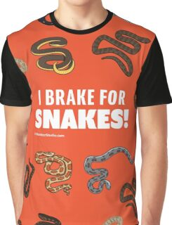 I Brake For Snakes Graphic T-Shirt