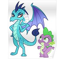 Princess Ember and Spike (My Little Pony) Poster