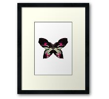 Pink Butterfly Ink Framed Print