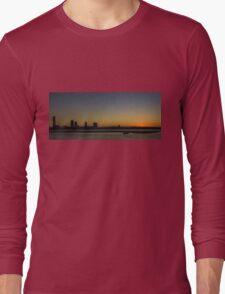 Southport Sunset, Gold Coast Long Sleeve T-Shirt