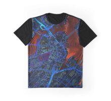 Boston city map dark Graphic T-Shirt