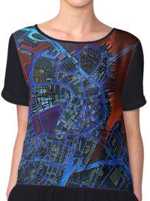 Boston city map dark Chiffon Top