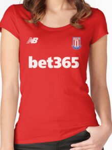 The Potters,STOKE CITY Women's Fitted Scoop T-Shirt