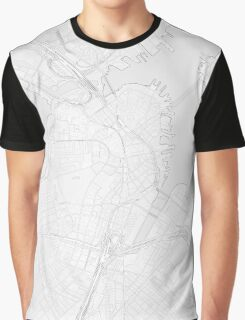 Simple map of Boston city center Graphic T-Shirt