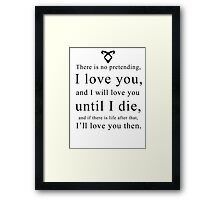 Jace Wayland - Quote Framed Print