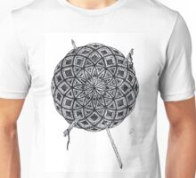 Stippling Geometric Circles - Black Ink Unisex T-Shirt