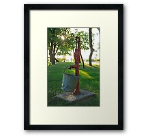 Water Pump and Bucket Framed Print