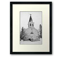 Old White Church Framed Print