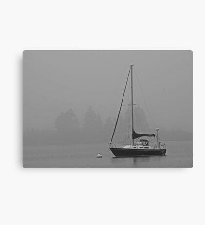 Sailboat and Fog Canvas Print