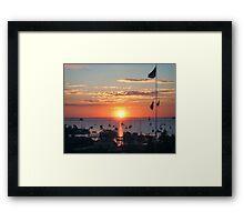 Sunrise at Rockport Maine Framed Print