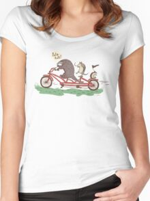 ROLLIN' PANGOLINS Women's Fitted Scoop T-Shirt