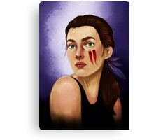 Feathers in her hair Canvas Print