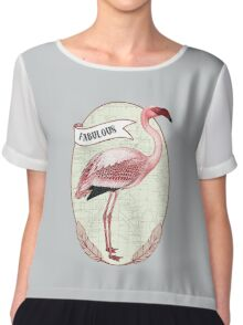 Fabulous Flamingo Chiffon Top