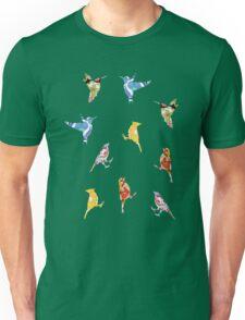 Vintage Wallpaper Birds on Mint Green Unisex T-Shirt
