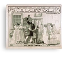 Performing Arts Posters For her childrens sake by Theo Kremer the companion play to The fatal wedding 0059 Canvas Print
