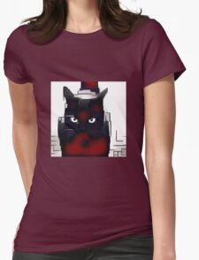Robo Cat Womens Fitted T-Shirt
