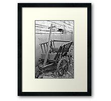 The Old Cart Framed Print