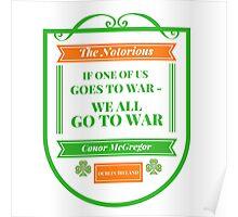 Conor McGregor Quote [War] Poster