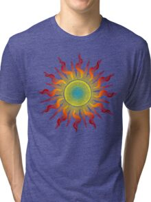 Let The Sunshine In - Dots Painting Tri-blend T-Shirt