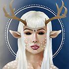 Demon Deer Girl by kerry-a-artwork