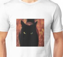 The Flaming Black Cat Unisex T-Shirt