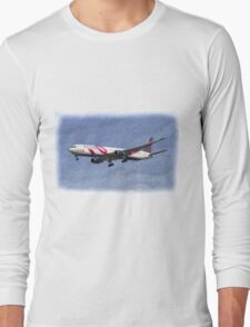 Delta Airlines Boeing 767 Art Long Sleeve T-Shirt